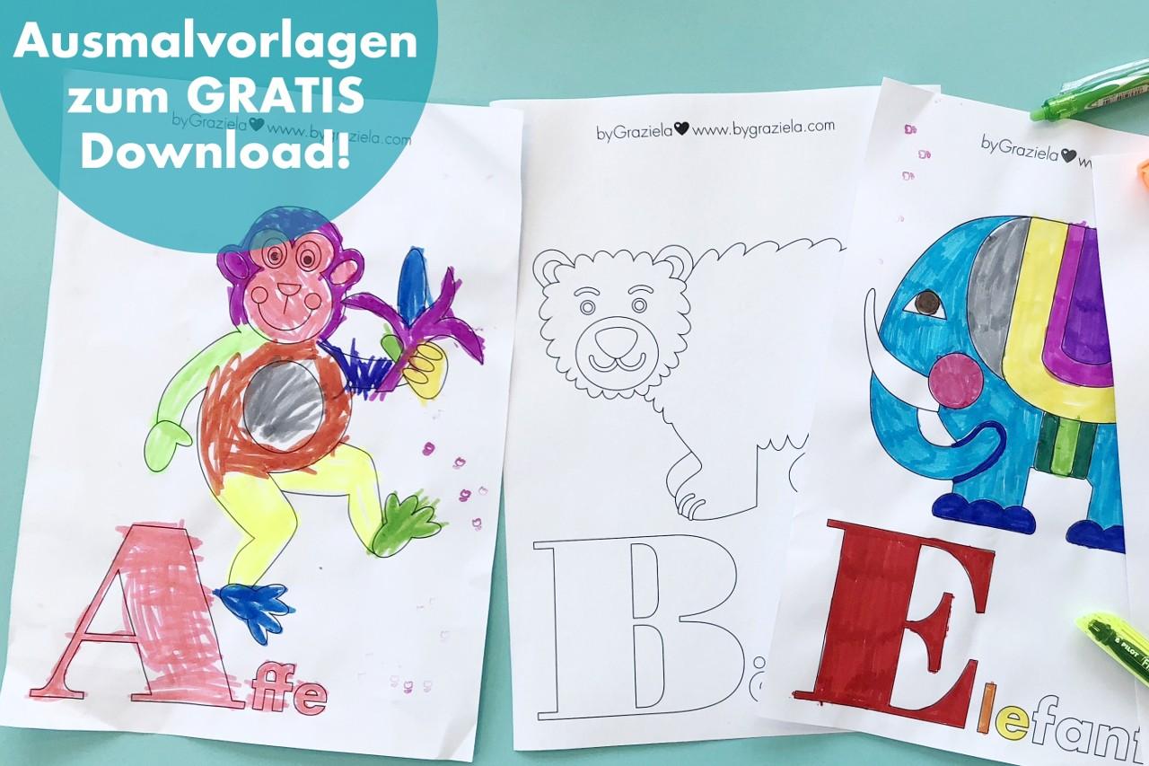 Malen nach dem ABC – jetzt Ausmalbilder gratis herunterladen