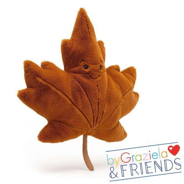 "Kuscheltier ""Woodland Maple Leaf"" / 43cm"