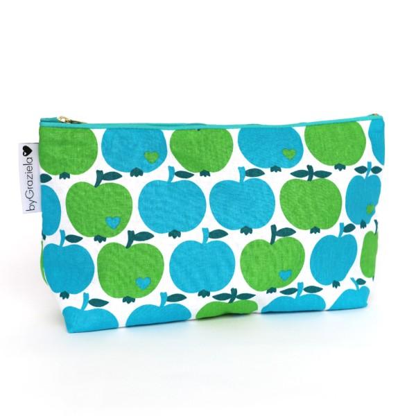 Apfel Kulturtasche - Blau-Grün