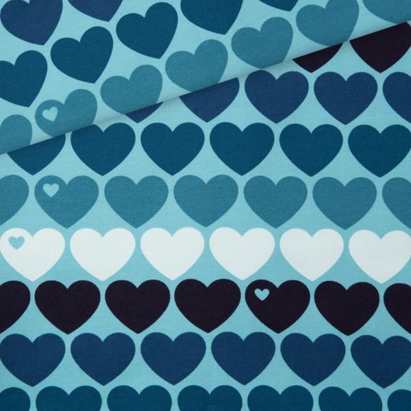 Sommersweat Heart me / Blau