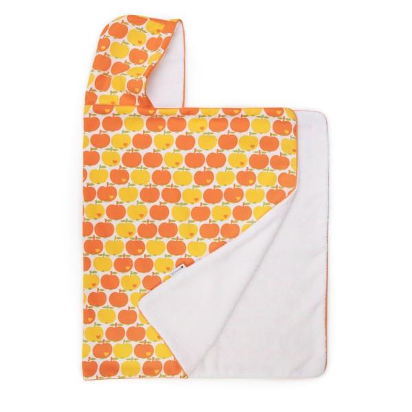 Kapuzenhandtuch / Apfel Gelb-Orange