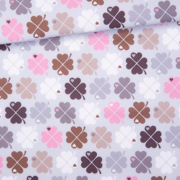 Kleeblatt Softshell / Rosa-Grau
