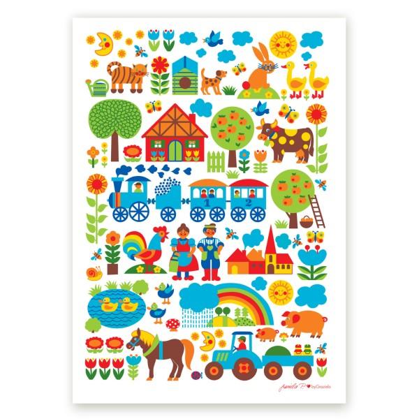 Bauernhof Poster