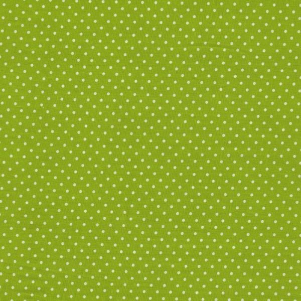 Kombi-Baumwollstoff kleine Punkte / helles Kiwi