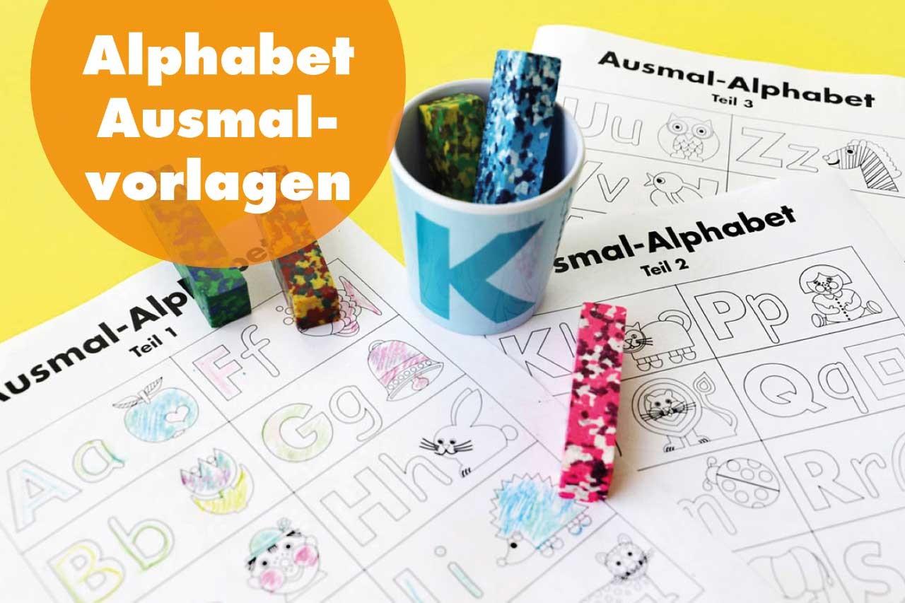 Freebie: Alphabet Ausmal Vorlage