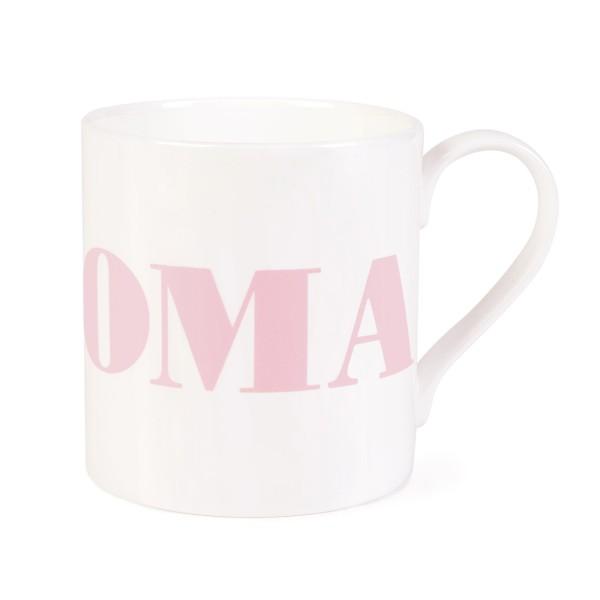 Porzellanbecher Oma / Herz