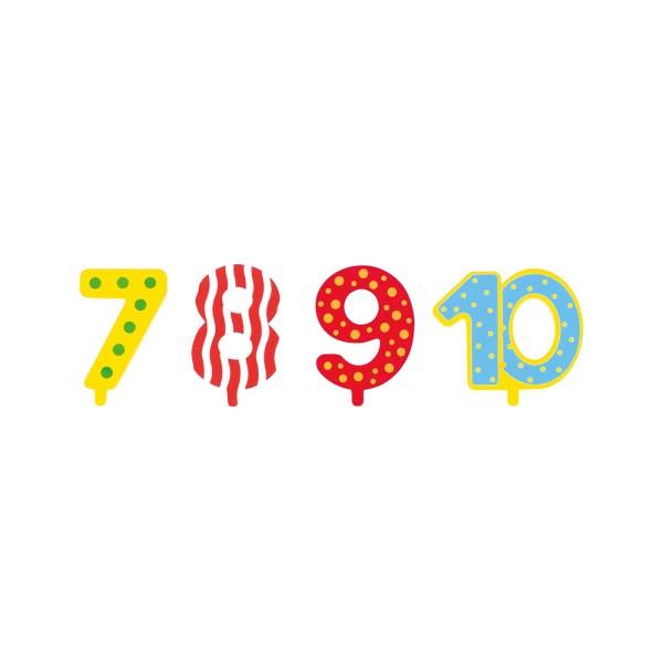 Extra Zahlen für Geburtstagszug / 7 - 10