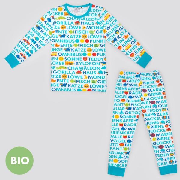 ABC Kinderschlafanzug / Blau