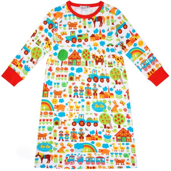 Kindernachthemd Bauernhof