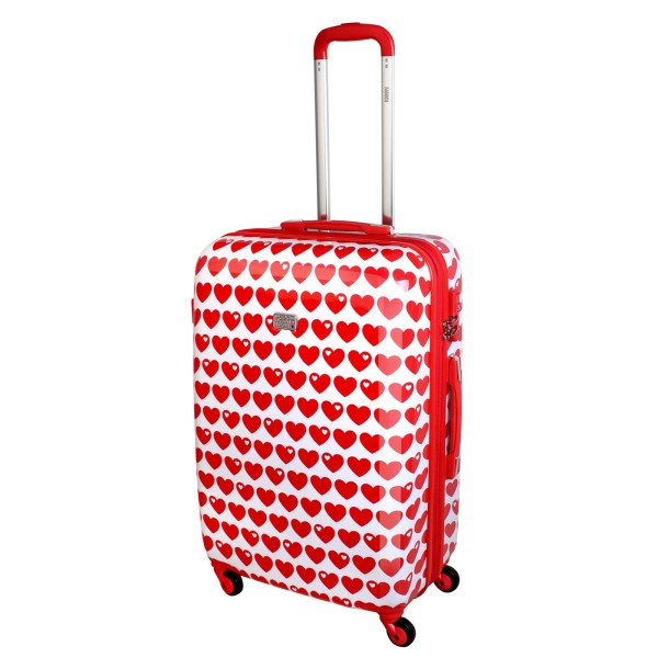 Koffer / XL / Herzen rot