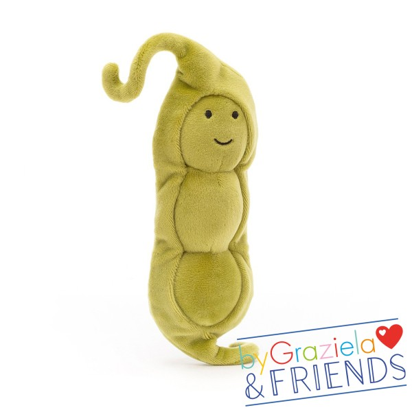 "Kuscheltier ""Vivacious Vegetable Pea"" / 17cm"