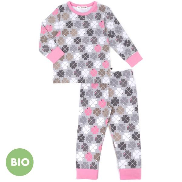 Kinderschlafanzug Kleeblatt / Rosa