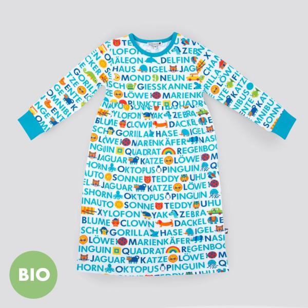 ABC Nachthemd, Blau