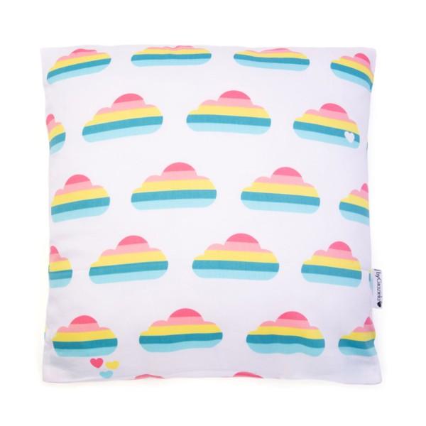 Kissenbezug Regenbogen Wolke / Weiß