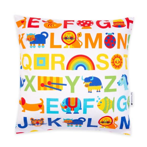 Kissenbezug ABC Regenbogen