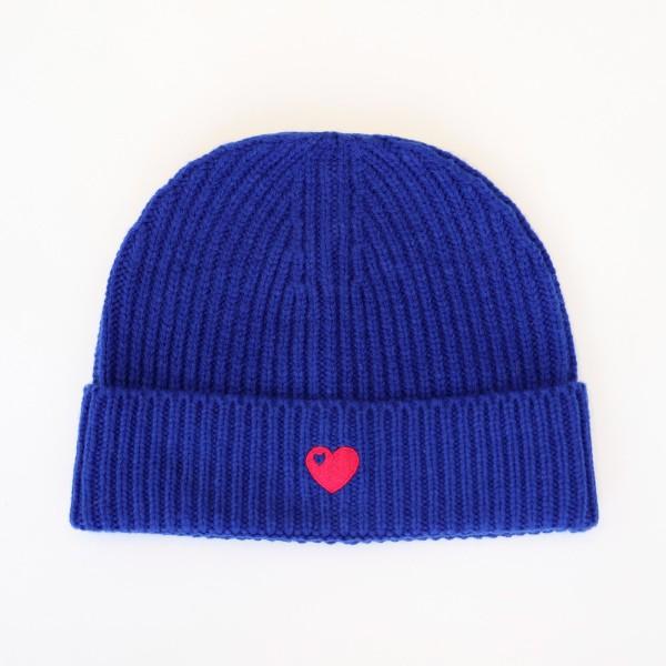 Mütze mit Herz / Royal Blau