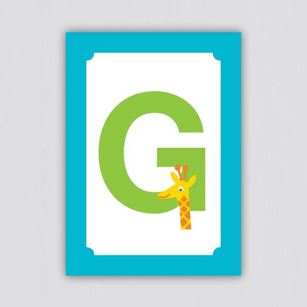 ABC Postkarte – G