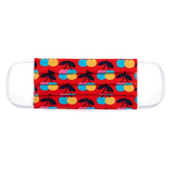 Maske Erwachsene - Kirschen Jersey rot / bunt