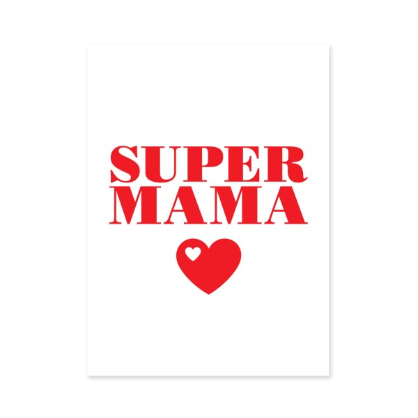 Postkarte Super Mama