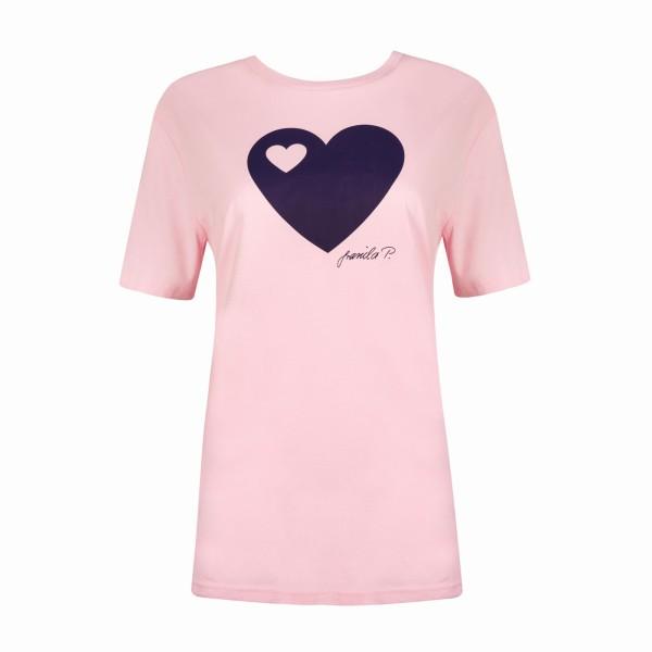 T-Shirt / Herz auf rosa