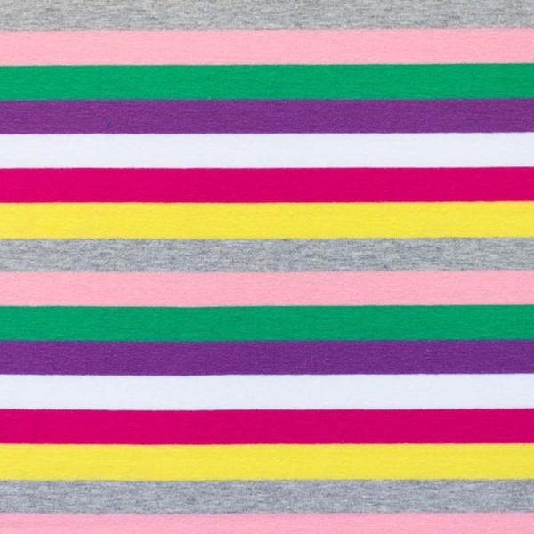 Jersey Streifen / Pink grau
