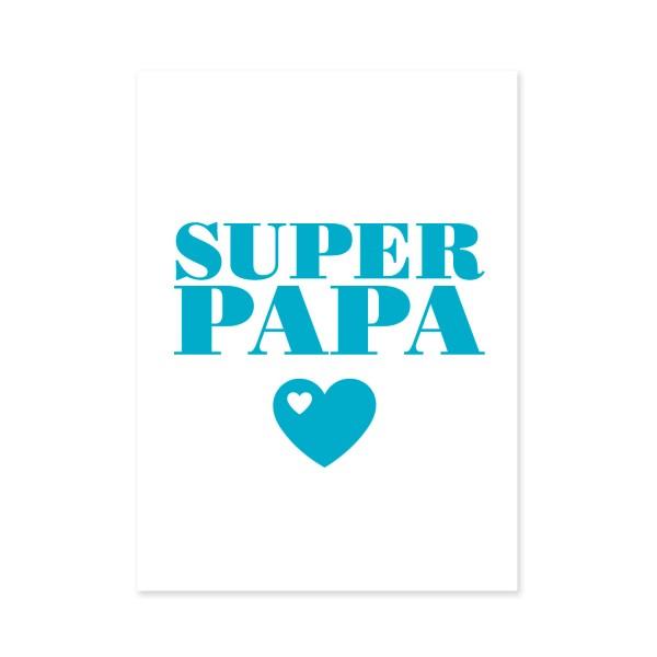 Postkarte Super Papa