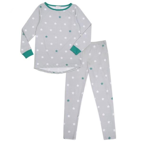 Mama Schlafanzug Sterne / Grau