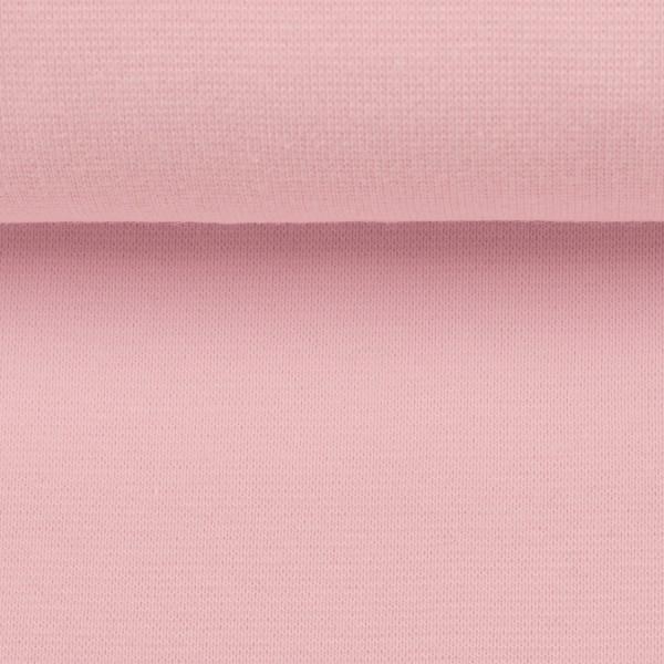 Bündchenstoff uni / Rosa