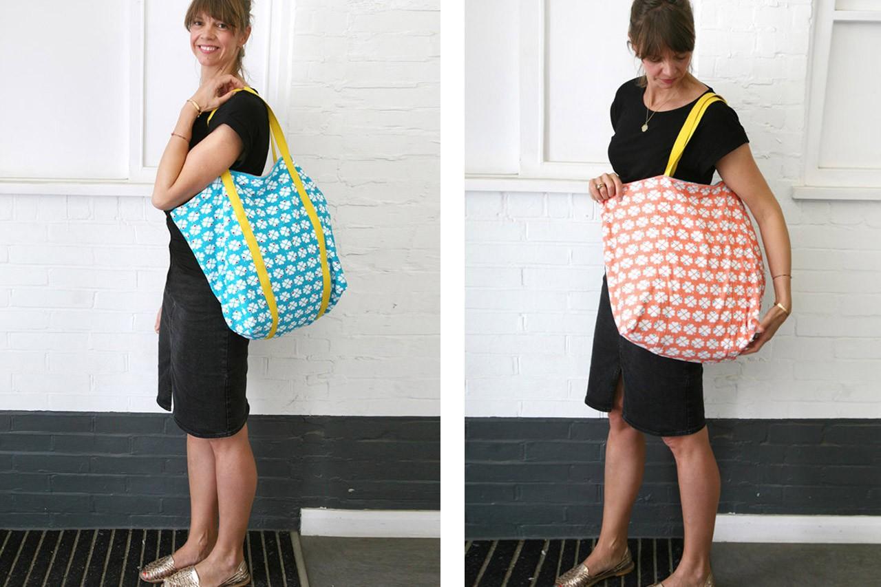Strandtasche zum Wenden nähen: ganz einfach!