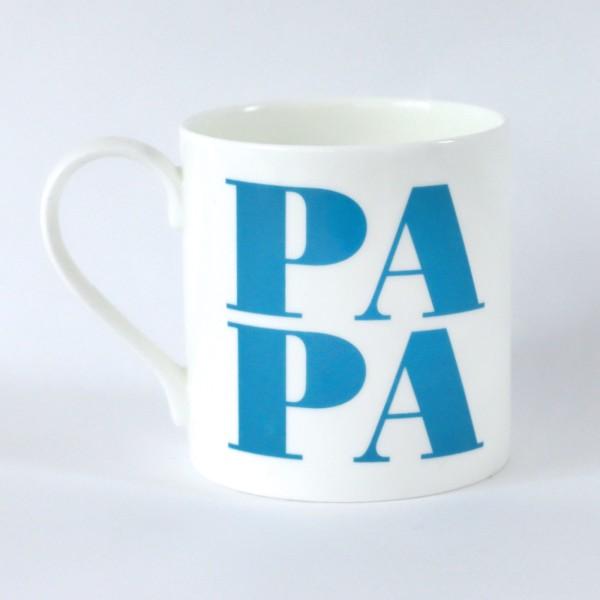 Porzellanbecher Papa / Apfel Blau