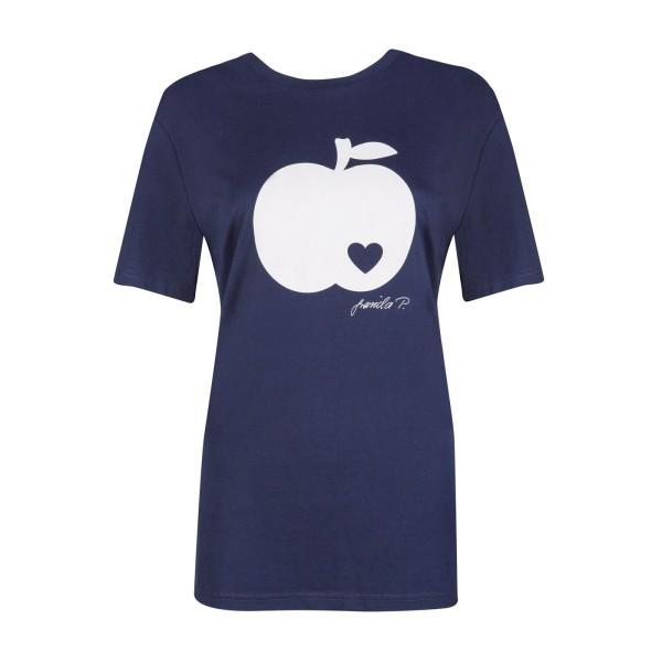 T-Shirt / Apfel auf navy