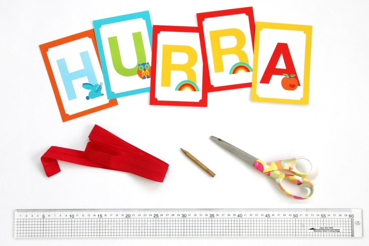 Wimpelkette selbermachen fürs Kinderzimmer!