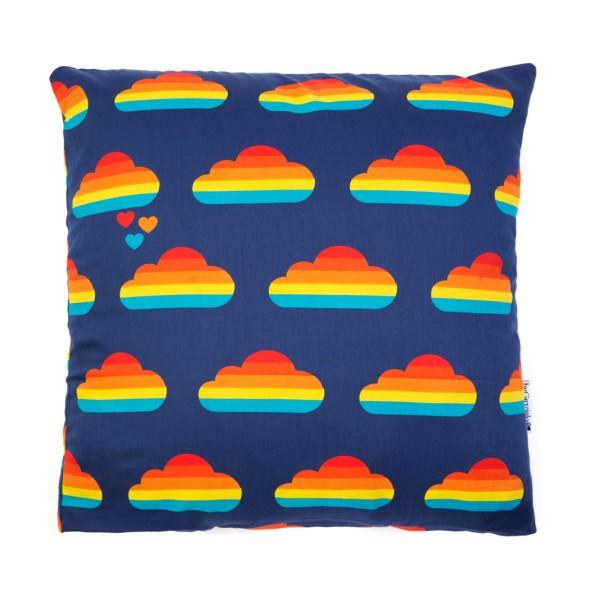 Kissenbezug Regenbogen Wolke / Blau