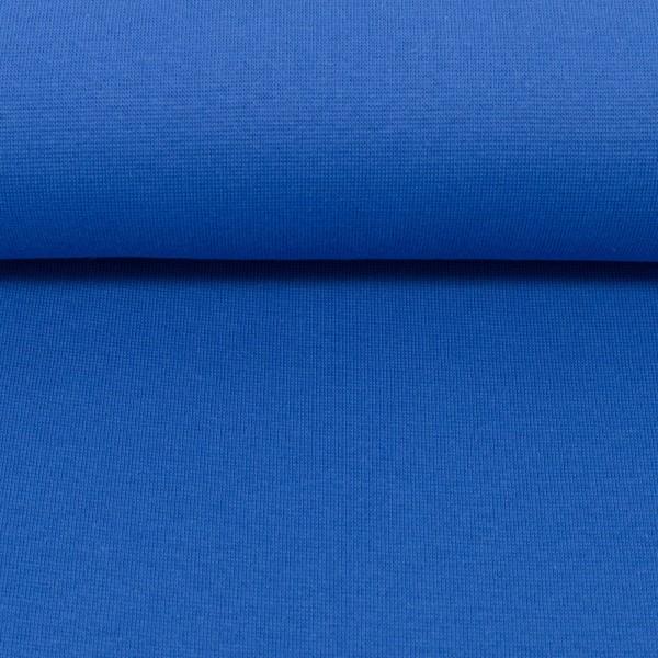 Bündchenstoff uni / Royal Blau