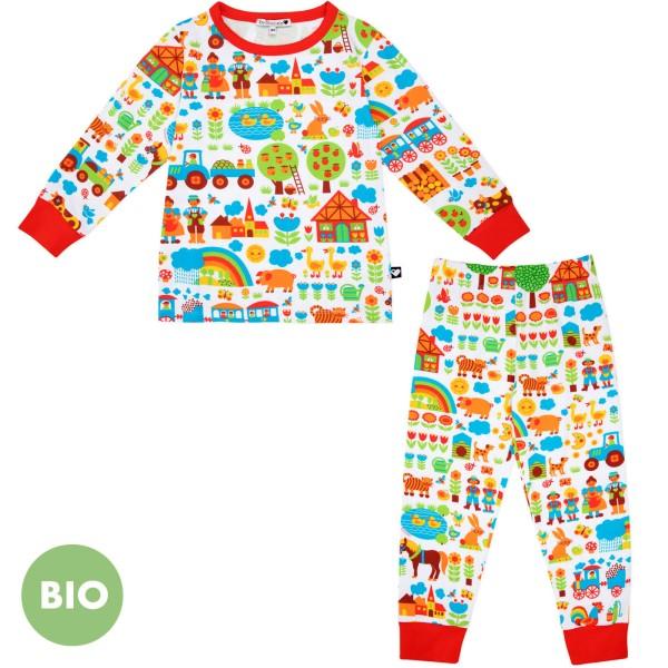 Kinderschlafanzug Bauernhof