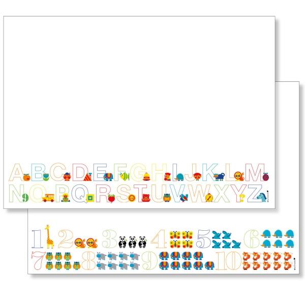 Schreibtischunterlage-Set: ABC & Zahlen