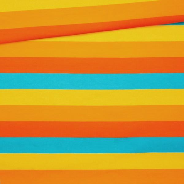 Jersey Blockstreifen / Orange-Gelb