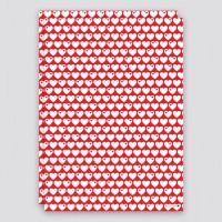 Geschenkpapier Herzen / Rot