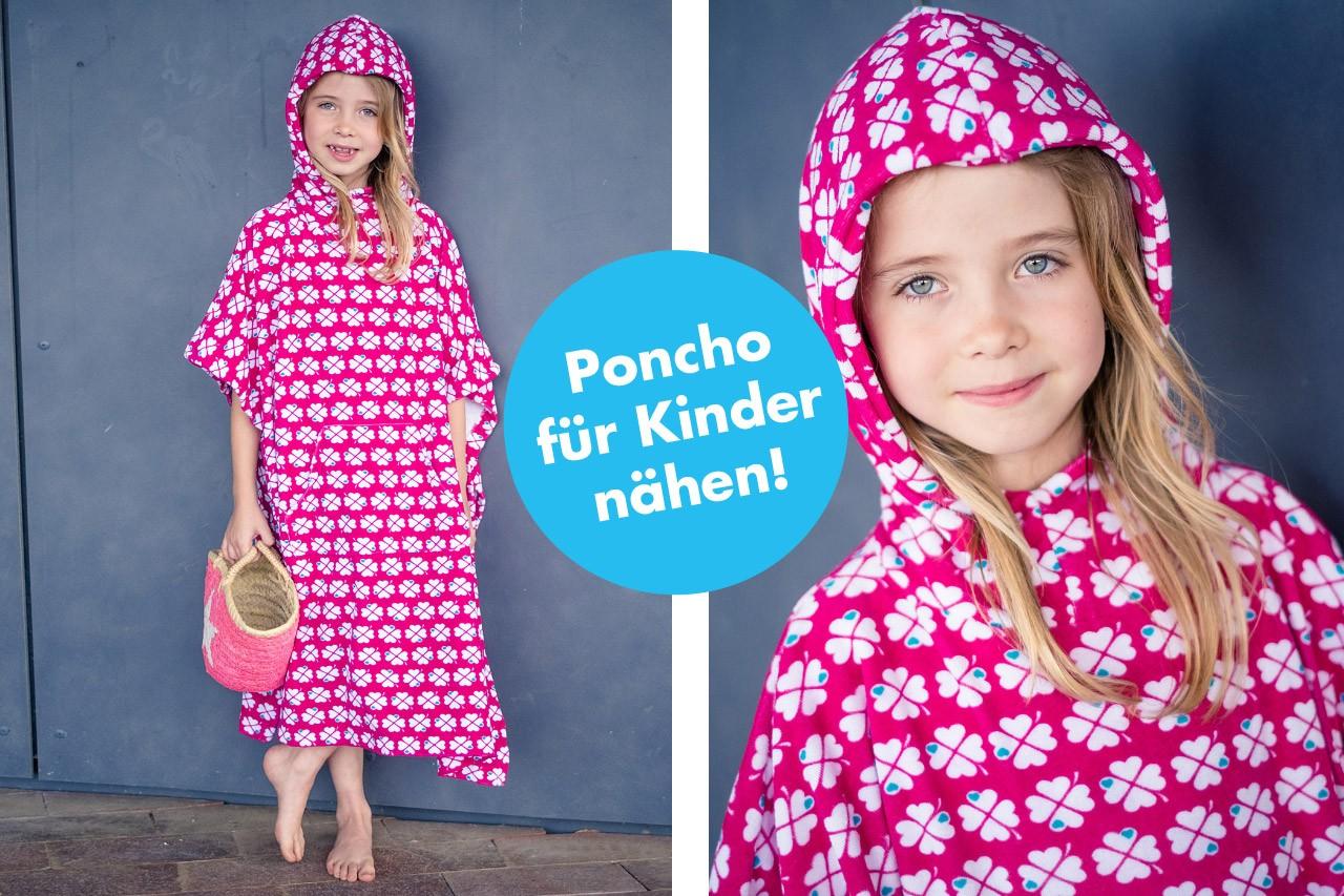 Strand Poncho für Kinder selbernähen!