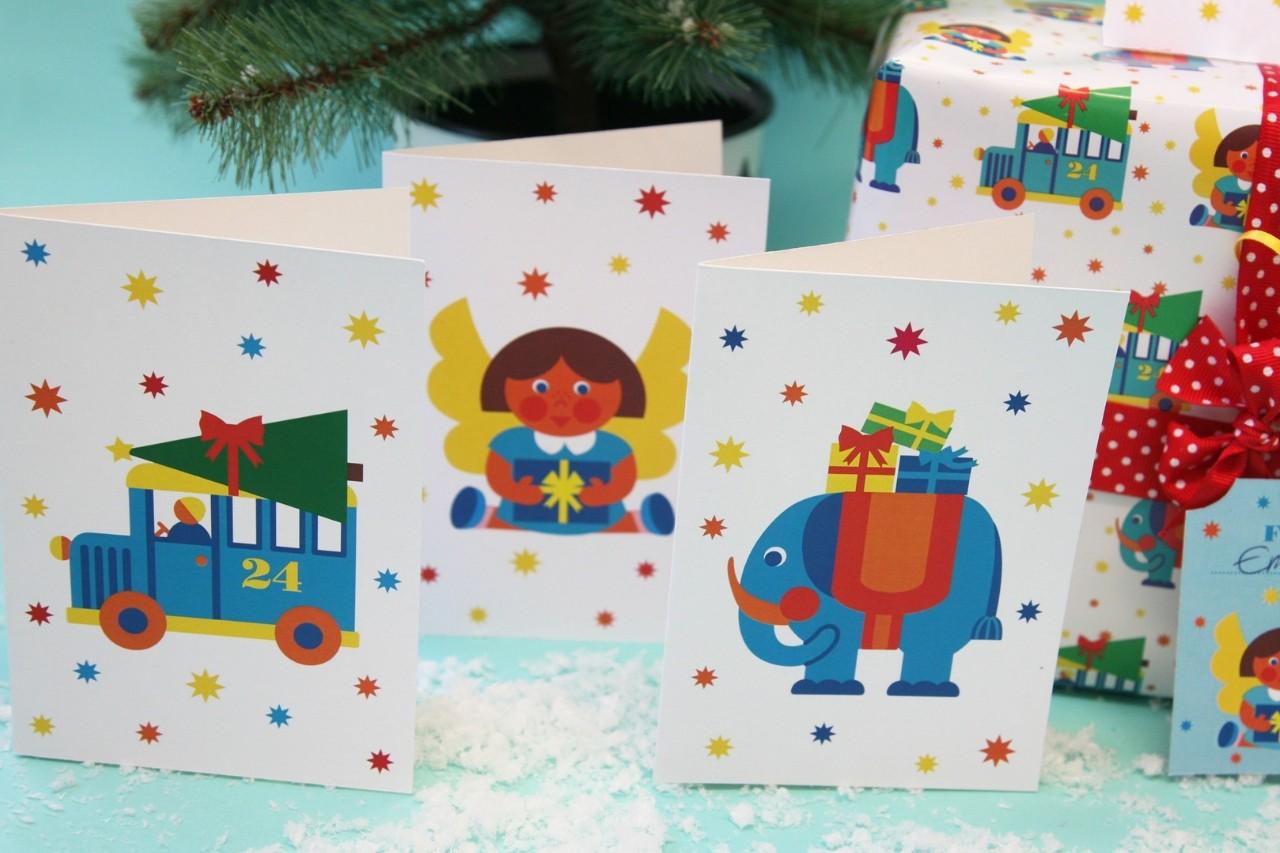 Weihnachtskarten zum Downloaden