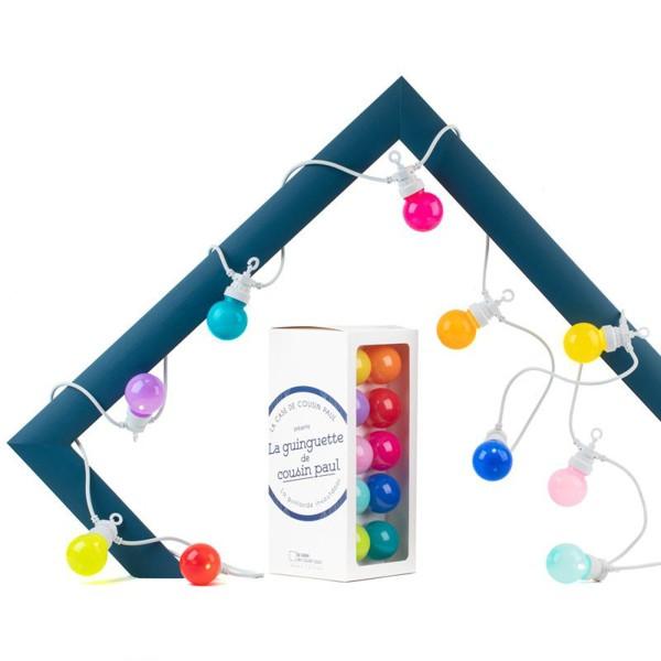 Lichterkette Glühbirnen / Starter-Set / Bunt