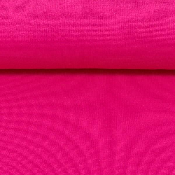 Bündchenstoff uni / Pink
