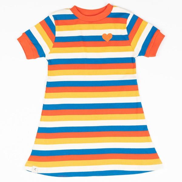 Kleid / Regenbogen Streifen
