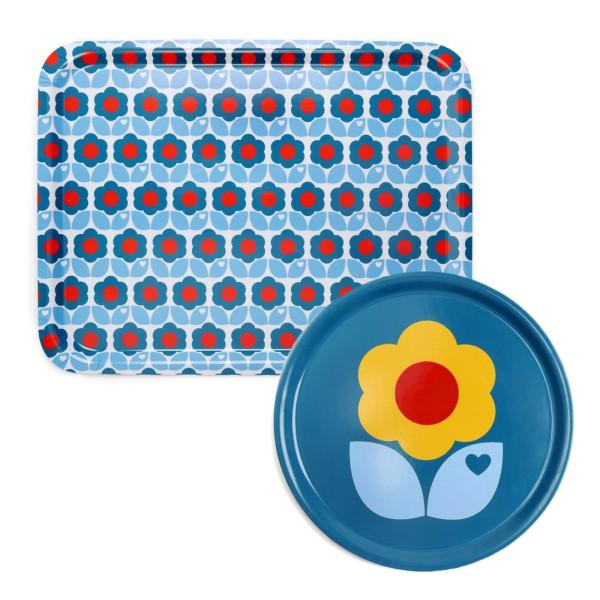 Tablett Set / Blau