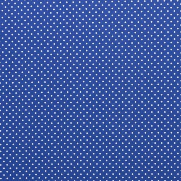 Baumwollstoff kleine Punkte / Royalblau