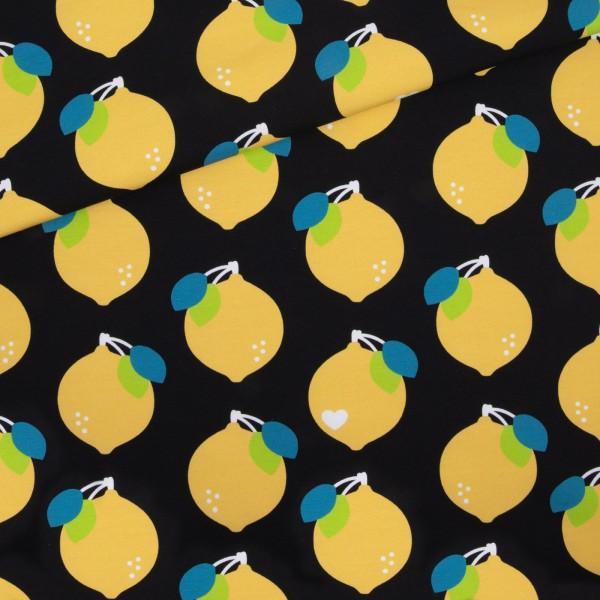 Sommersweat Big Zitrone / Schwarz-Gelb