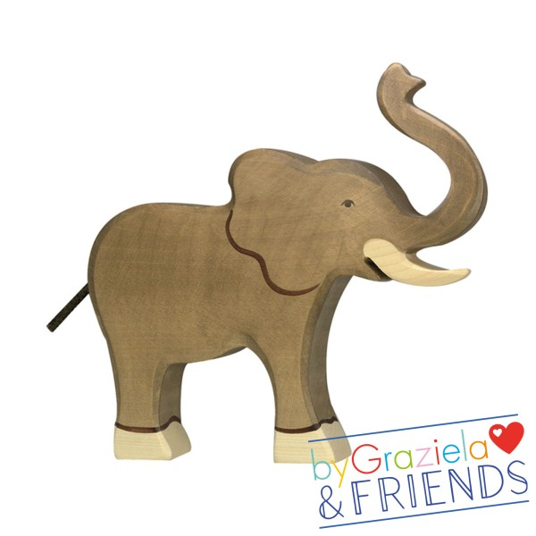 Holztier / Elefant