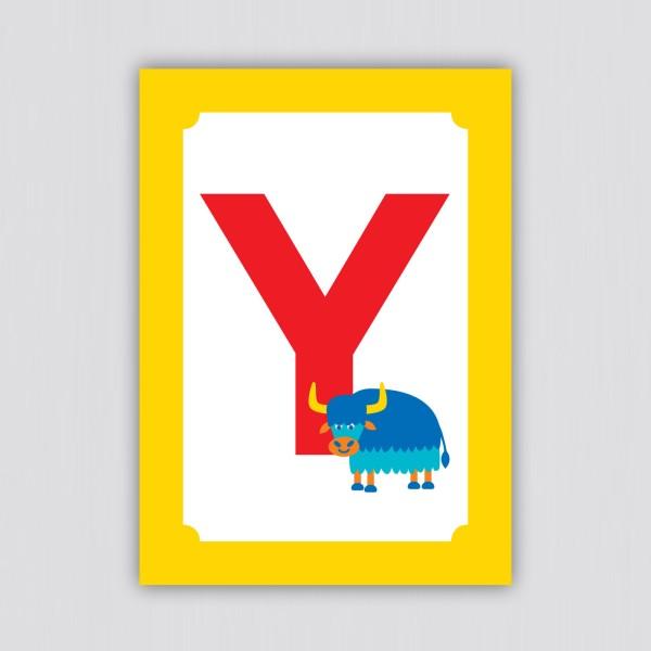ABC Postkarte – Y