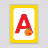 ABC Postkarte – A