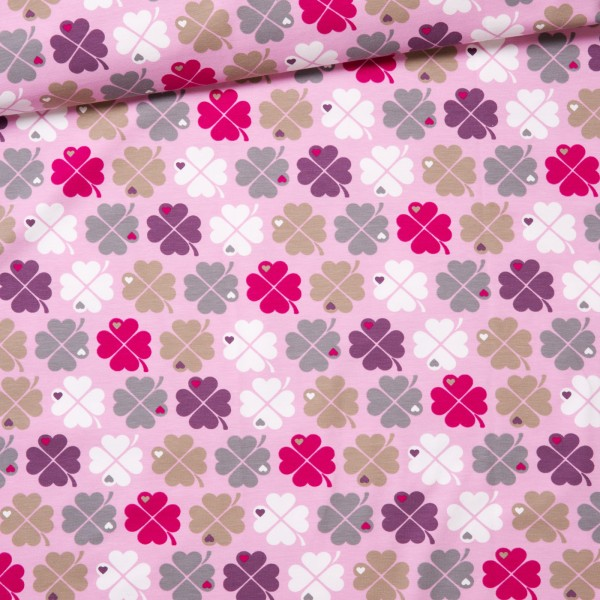 Jersey Kleeblatt / pink violet